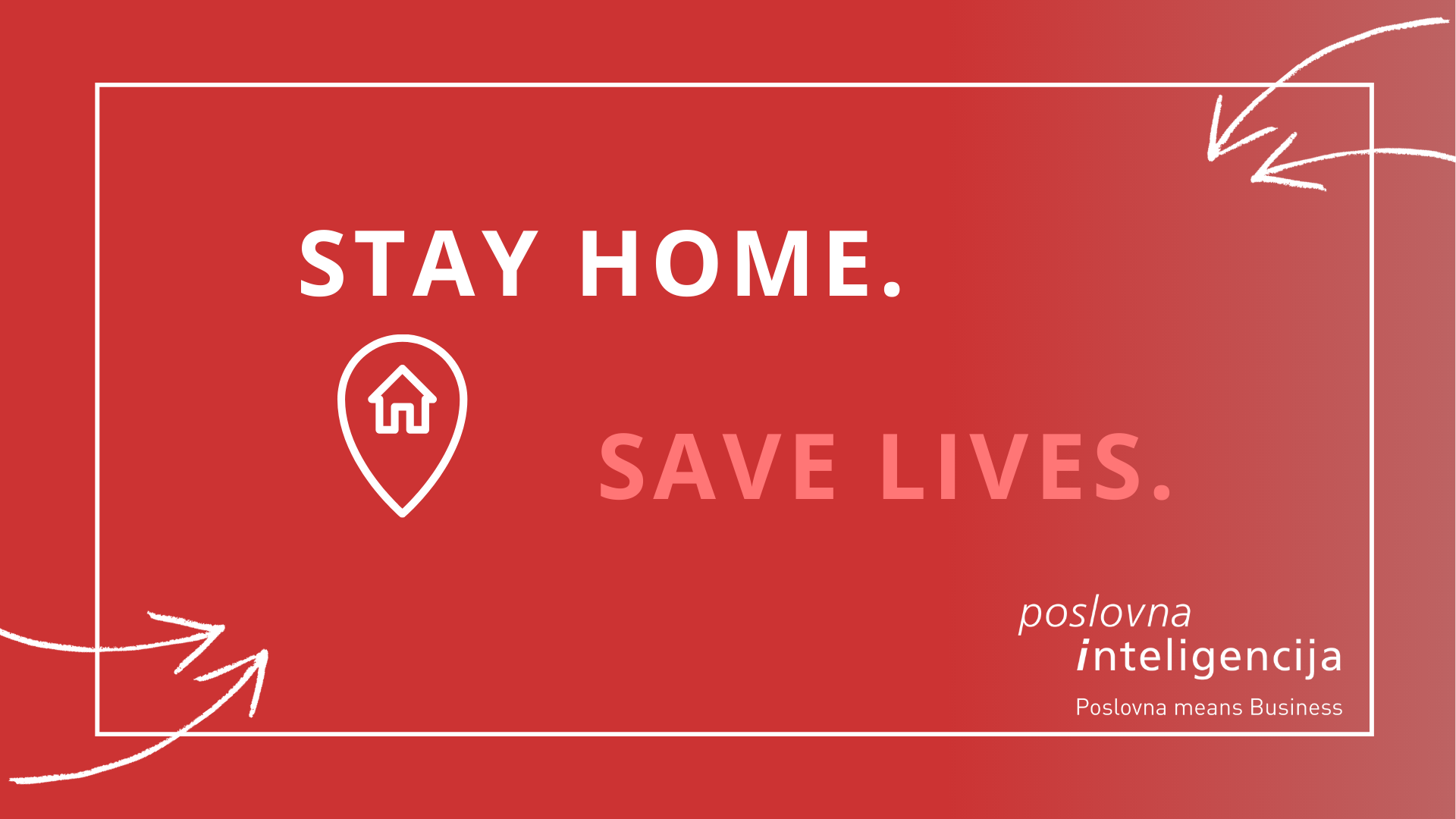 Poslovna inteligencija - stay home save lives - corona