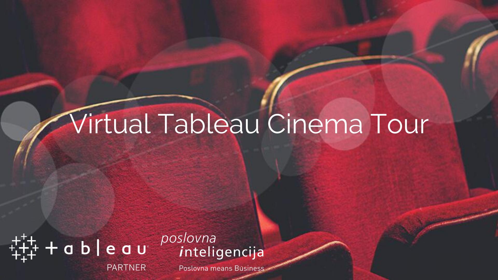 Vitrual tableau cinema tour - Poslovna inteligencija